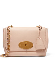 Lily medium textured-leather shoulder bag