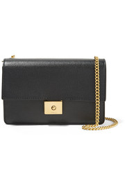 Cheyne textured-leather clutch