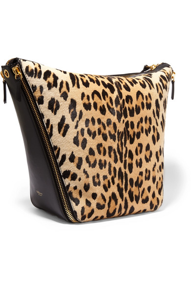 4e86f2ca4439 Mulberry. Camden leopard-print calf hair and leather shoulder bag