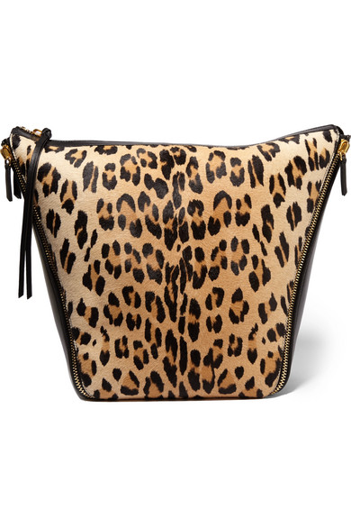 7909e9a67c9e Mulberry. Camden leopard-print calf hair and leather shoulder bag. £1