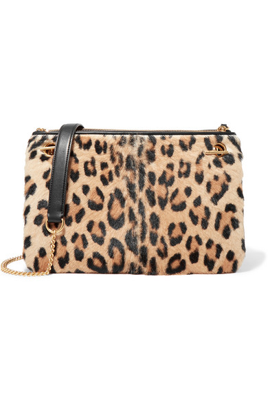 d66a1b29c7c7 Mulberry | Winsley leather-trimmed leopard-print calf hair shoulder ...