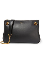 Winsley textured-leather shoulder bag
