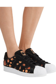 Superstar metallic printed suede sneakers