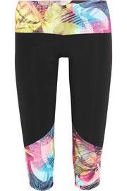 I Am Proud printed stretch-jersey capri leggings