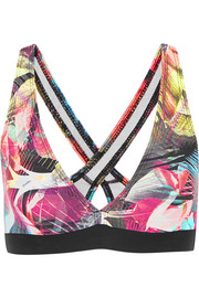 Bodyism I Am Proud printed stretch-jersey sports bra