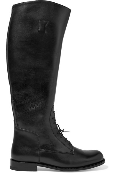 Ariat - Palencia Lace-up Leather Riding Boots - Black