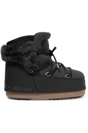 Buzz faux fur-trimmed neoprene and faux leather snow boots