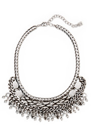 Zahara oxidized silver-plated necklace