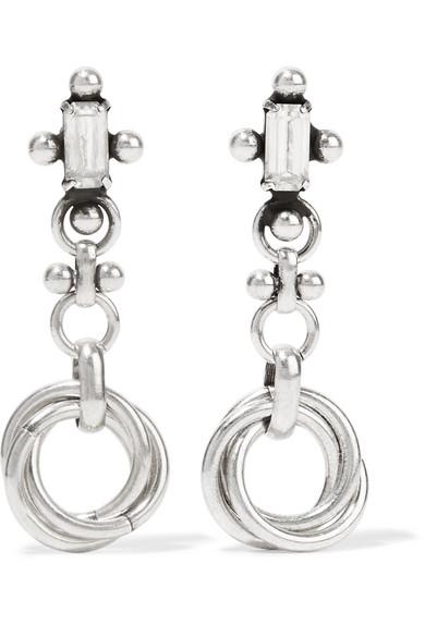 DANNIJO - Palma Silver-plated Swarovski Crystal Earrings