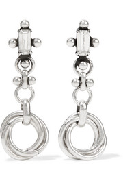 Palma silver-plated Swarovski crystal earrings
