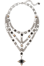 Marcella silver-plated Swarovski crystal necklace