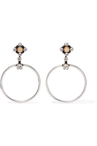 DANNIJO - Rue Oxidized Silver-plated Swarovski Crystal Earrings