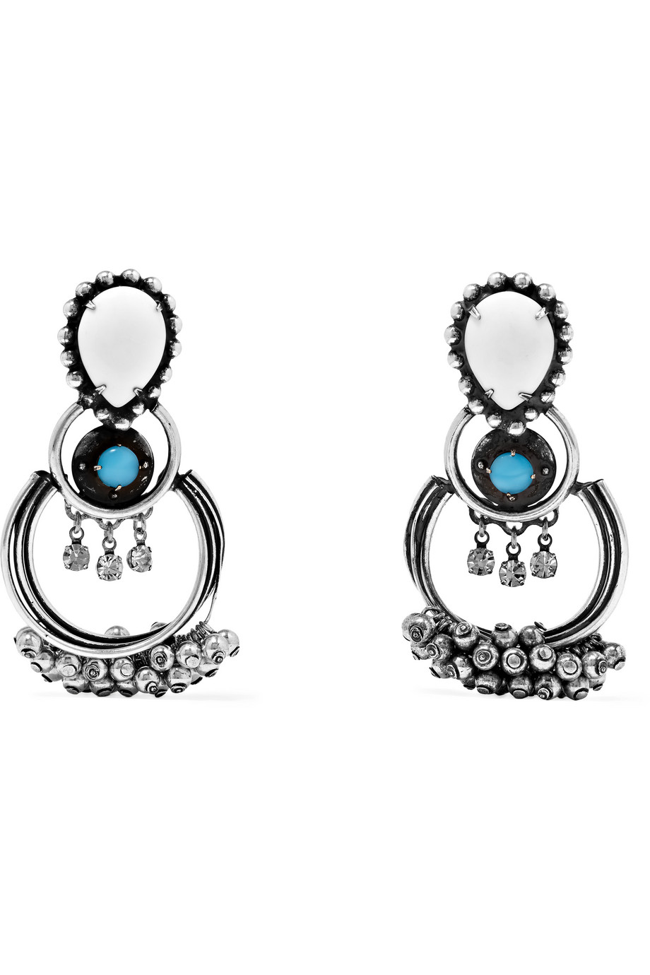 Florence Oxidized Silver-Plated Swarovski Crystal Earrings