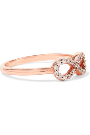 Infinity rose gold-plated topaz ring