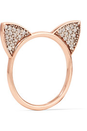Cat Ears rose gold-plated topaz ring