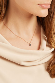 Saturn rose gold-plated zircon necklace