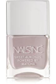 Nails inc Sweet Almonds Powered by Matcha Nail Polish - Cornwall Gardens