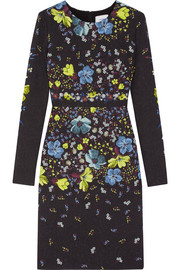 Erdem Evita printed matelassé dress
