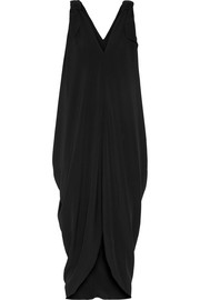 Isabel bow-embellished crepe midi dress