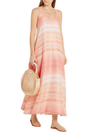 The Sunset striped woven maxi dress