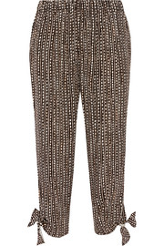 The Stroll cropped printed crepe pants