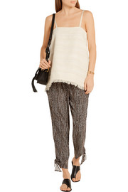 The Nilli cotton-blend tweed camisole