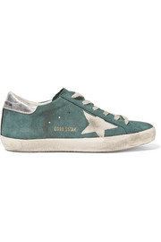 Super Star distressed suede sneakers