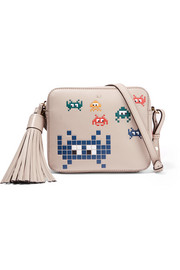 Anya Hindmarch Space Invaders embossed leather shoulder bag