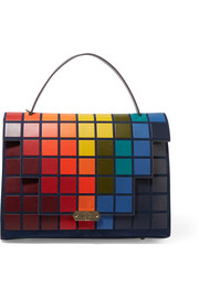 Pixels Bathurst leather and suede tote