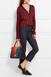 Anya Hindmarch Pixels Bathurst leather and suede tote