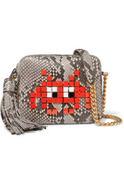 Anya Hindmarch Appliquéd python shoulder bag