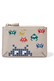 Anya Hindmarch Pocket printed textured-leather pouch