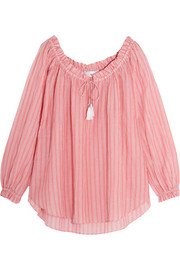 Zimmermann Roza striped cotton-voile top