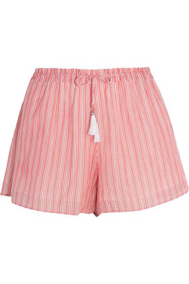 zimmermann female 250960 zimmermann roza striped cottonvoile shorts red