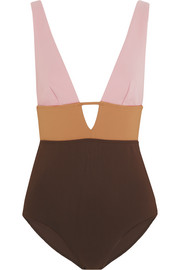 Zimmermann Chroma color-block swimsuit