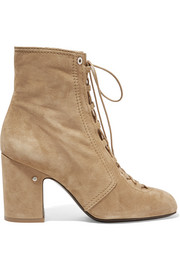 Milly lace-up suede ankle boots