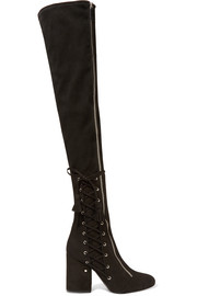 Maren stretch-suede over-the-knee boots