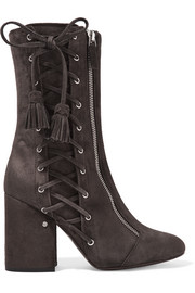 Marcy lace-up suede boots