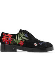 Homere embroidered velvet brogues