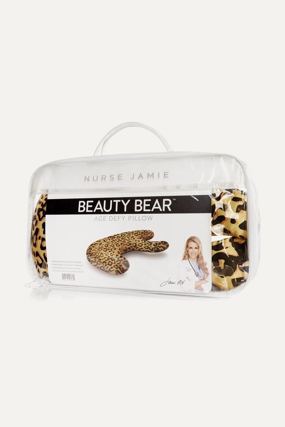 Nurse Jamie Beauty Bear™ Age Defy Pillow - Leopard