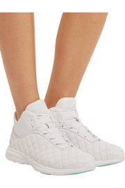 Lusso quilted leather high-top sneakers
