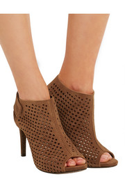 Pedro Garcia Sofia perforated suede platform sandals