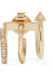 Maria Black Fine Jewelry 18-karat gold diamond earring