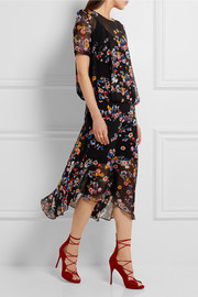 Melina floral-print silk-georgette midi dress