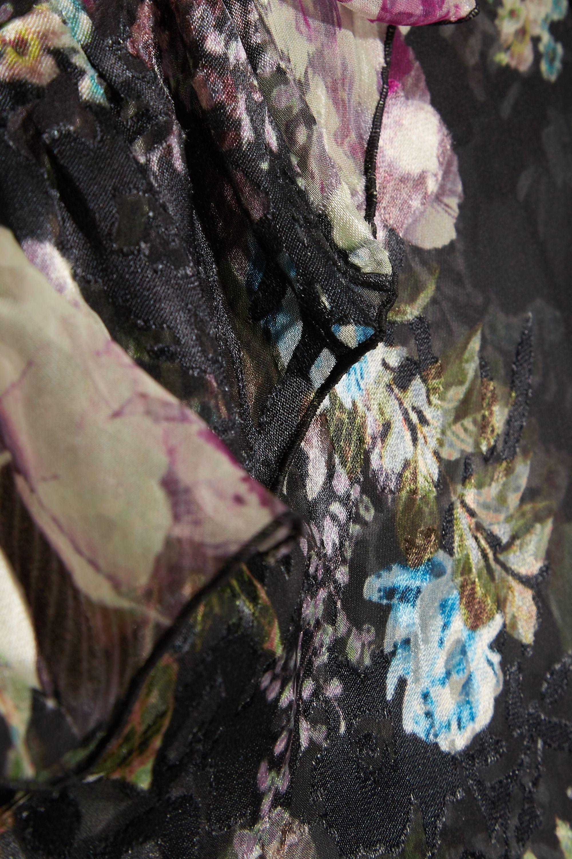 Preen by Thornton Bregazzi Tilly cutout floral-print devoré-chiffon top