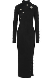 Preen by Thornton Bregazzi Amice embellished wool maxi dress