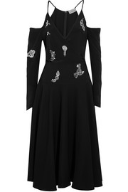 Preen by Thornton Bregazzi Florentine crystal-embellished silk crepe de chine dress