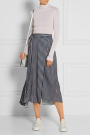 Traiber printed twill wrap skirt