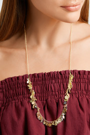 Carolina Bucci Lucky 18-karat gold, sapphire and diamond necklace