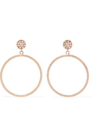 Carolina Bucci - Looking Glass 18-karat Rose Gold Diamond Earrings